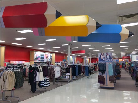 Target Pencil Back-to-School Directionals In Retail
