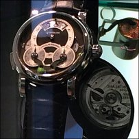 Wrist Watch Back Mirror CloseUp