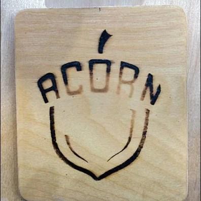 Logo Branded Fixtures - Acorn Brand is Branded Detail