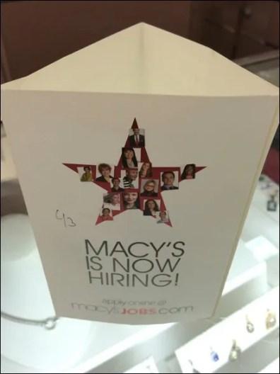 Macy's Hiring Triangular Standup 2