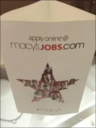 Macy's Hiring Triangular Standup 3