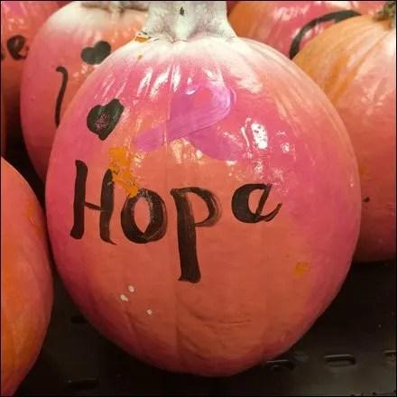 Pumpkins Speak Out Hope