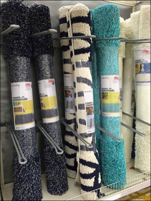Carpet Endcap Upright Divided Display 2