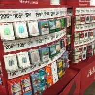 Curved Corrugated Xmas Gift Card Display