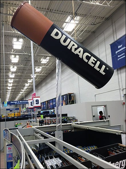 Duracell Battery Merchandising - Duracell Invisible Alternative 1