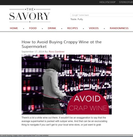 How to Avoid Crap Wine at The SuperMarket
