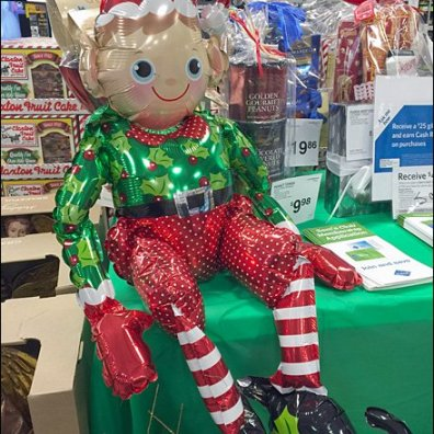 Inflatable Elf on a Shelf Main