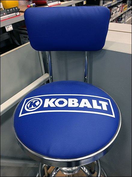 Kobalt Branded Take-A-Seat Try-Me