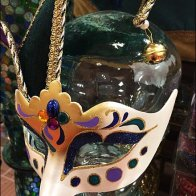 Masquerade Ball Mask Glass Headform Main