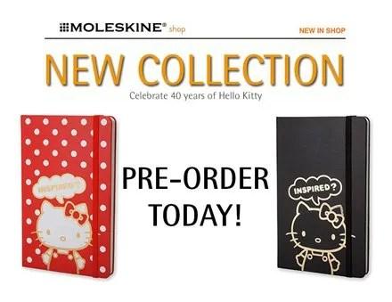Moleskine Celebrate 40 years of Hello Kitty