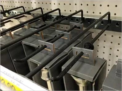Plug-In Tension Rod Hooks in Black