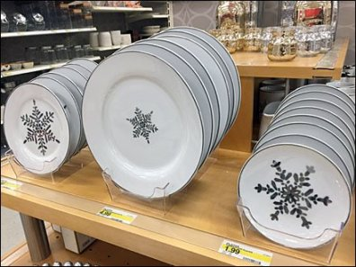 Celebration of Snowflake China Acrylic Tray