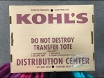 Kohl's Sustainable Corrugated Tote