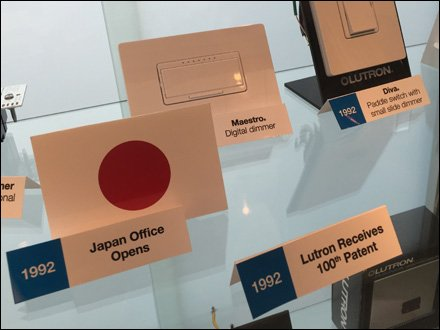 Lutron Showroom Branded Timeline