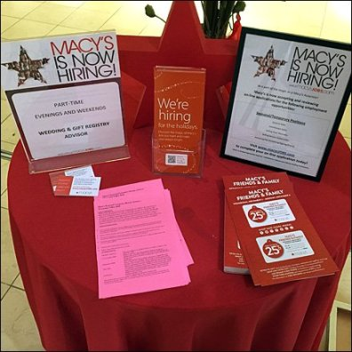 Macy's Holiday Hiring as Retail Merchandising Store Fixture 2