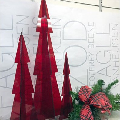 Christmas Tree in Red Plexiglass