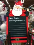 Santa All I Want for Christmas In-Store Chalkboard Christmas List