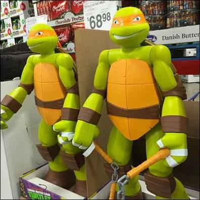 Lifesize Ninja Turtle Display