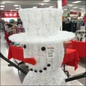TJMaxx Winter Snowman Detail