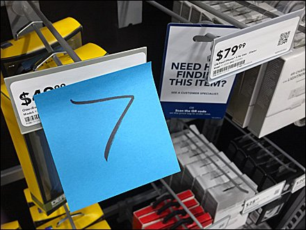 Look-to-Your-Right Post-It Note Directional