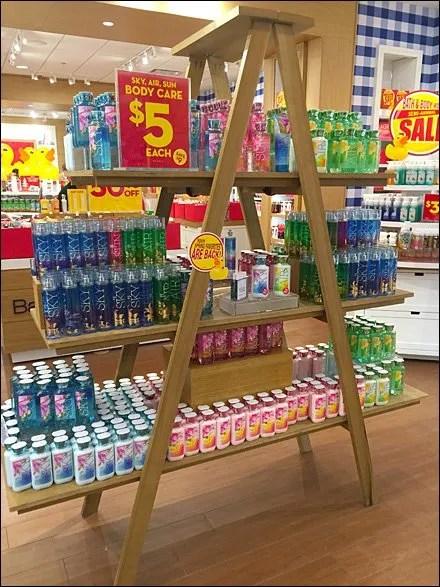 Bath & Body Works Ladder Merchandising