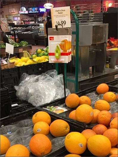 Produce Hook For Citrus Peeler