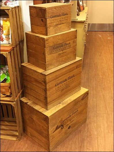 Gertrude Hawk Stacked Wood Crates