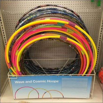 Hula Hoop Store Fixtures and Merchandising - Cosmic Hula Hoop On-Shelf Rack Keeper