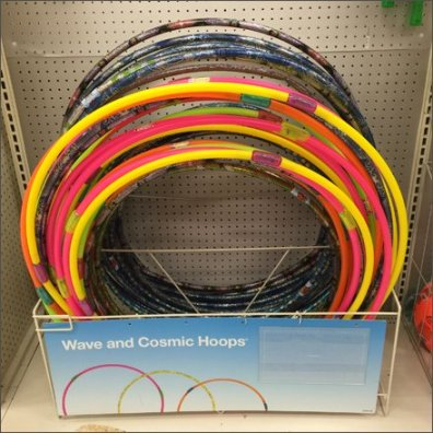 Cosmic Hula Hoop On-Shelf Rack Keeper