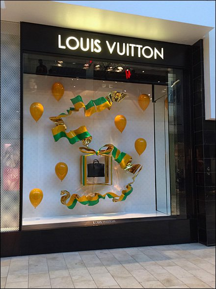 Louis Vuitton Party Window With Balloons