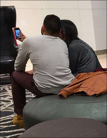Mall Romance Selfie Closeup