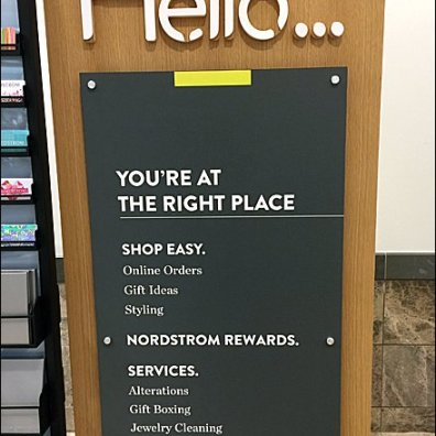 Nordstrom Hello You Are At Right Place Detail