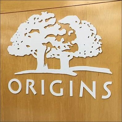 Origins for Eyes Logo Dept Branding