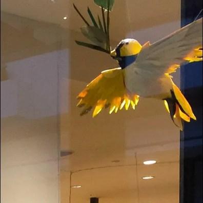 Little Birdie Window Dressing Detail