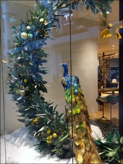 Peacock Window Dressing Main