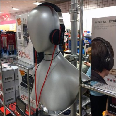 Silver Headphone Headforms 2