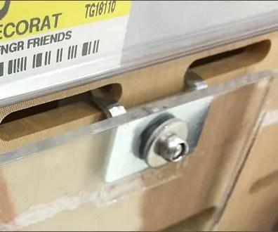 Square Acrylic Bin for Slotwall