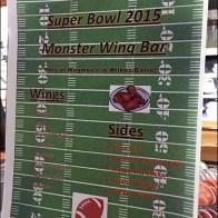Super Bowl Monster Wing Bar
