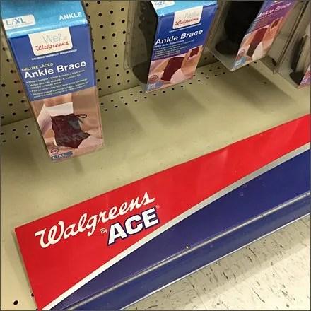 Walgreens and Ace Co-Branded Shelf Overlay