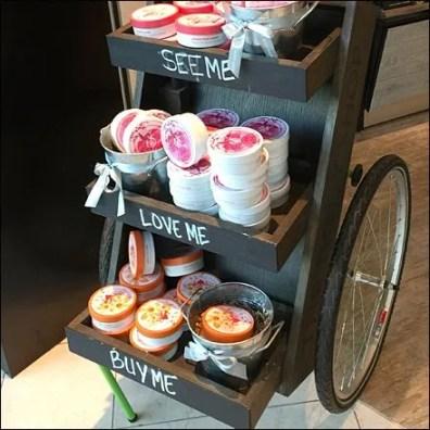 Hand-Lettered Cart Engagement