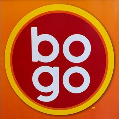 BOGO in Lower Case Letters Trademarked Main