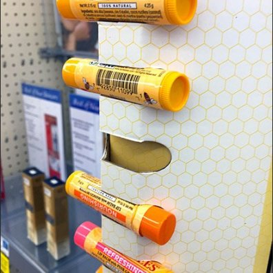 Burt's Bees Corugated Strip Merchandiser 3