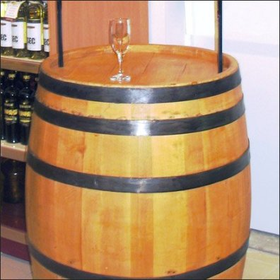 In-Store Wine Tasting Barrel 2