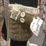 Knit Garter Winter Wear Closeup