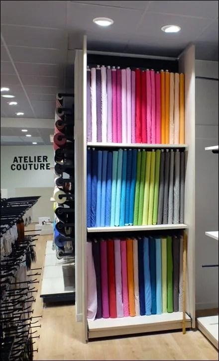 Euro Fixture: Fabric Bolts On Display Maison Cousu - Mondial Tissu - Paris 2014 by CAEM Main