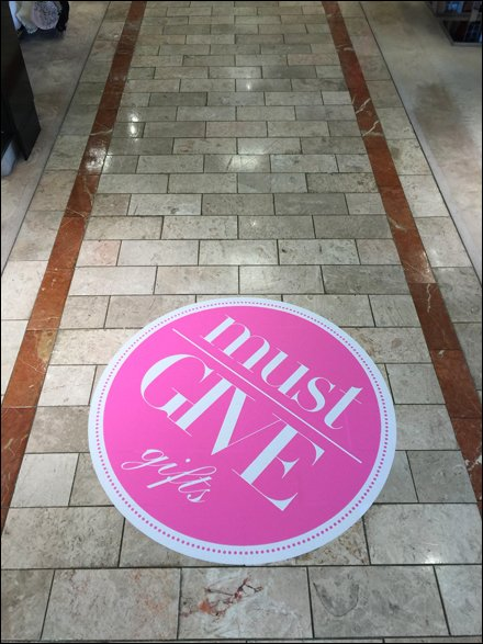 Must-Give-Gifts Mid-Aisle Floor Graphic