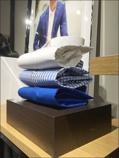 Paper Clipped Shirt Display 1