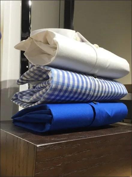 Dress Shirt Accordion Fold