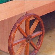 Produce Cart Wagon Wheels 3