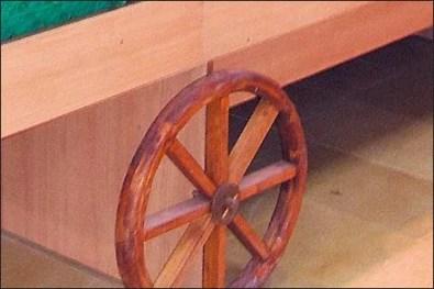 Produce Cart Wagon Wheels 3